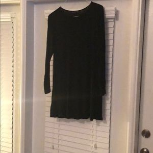 Long Sleeved Black Mini Dress